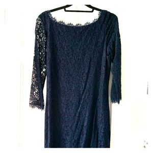 Classic Navy DVF lace dress